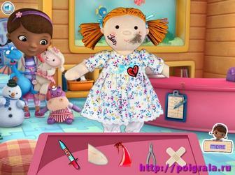Картинка к игре Доктор Плюшева лечит куклы