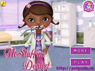 Игра Доктор плюшева лечит зубы