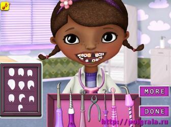 Картинка к игре Доктор плюшева лечит зубы