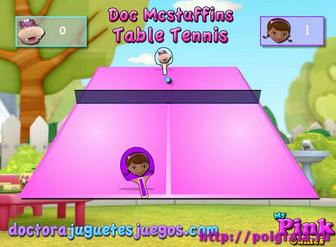 Игра Доктор Плюшева, настольный теннис