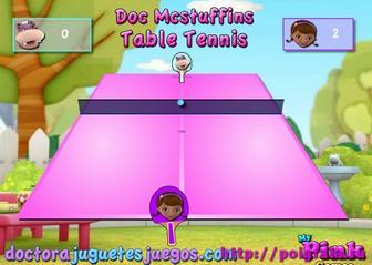 Картинка к игре Доктор Плюшева, настольный теннис