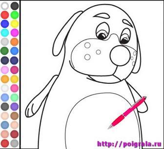 Раскраска щенка картинка 1