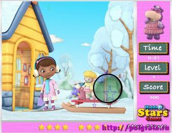 Картинка к игре Доктор Плюшева, найди звезды