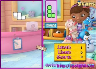 Картинка к игре Тетрис с доктором Плющевой