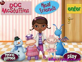 Игра Доктор Плюшева ухаживает за игрушками
