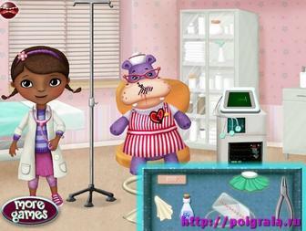 Картинка к игре Доктор Плюшева ухаживает за игрушками