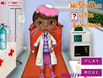 Игра Доктор Плюшева в скорой помощи