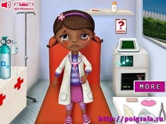 Картинка к игре Доктор Плюшева в скорой помощи