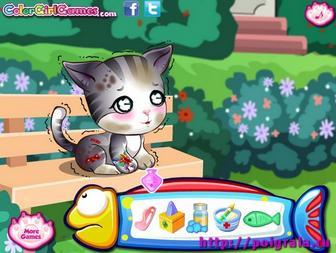 Картинка к игре Дотти Плюшева и котенок
