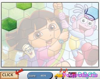 Картинка к игре Пазл с Дашей и башмачком