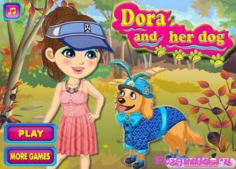 Игра Даша и собака, одевалка