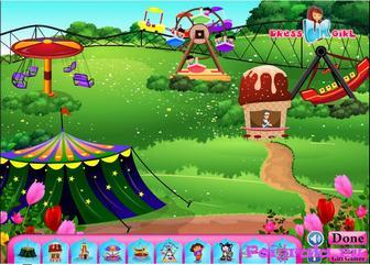 Картинка к игре Даша в тематическом парке