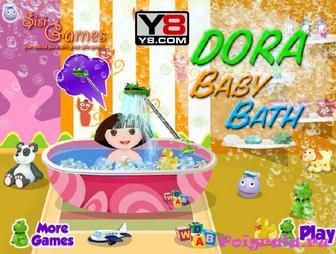 Игра Малышка Даша в ванной