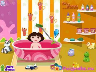 Картинка к игре Малышка Даша в ванной