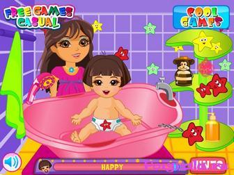 Картинка к игре Маленькая сестра Даши