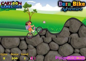 Картинка к игре Даша на велосипеде