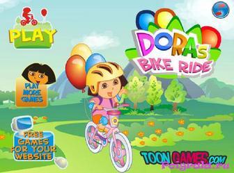 Игра Приключение Даши на велосипеде