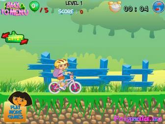 Картинка к игре Приключение Даши на велосипеде