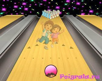 Картинка к игре Даша играет в боулинг