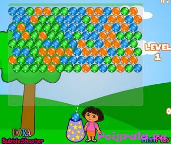 Дора лопает шарики картинка 1