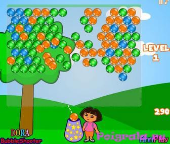 Картинка к игре Дора лопает шарики