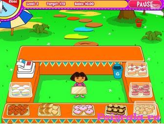 Картинка к игре Даша продает пироженые