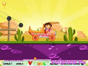 Картинка к игре Даша перевозит конфеты