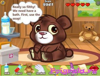 Картинка к игре Даша ухаживает за мишкой