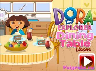 Игра Даша украшает стол