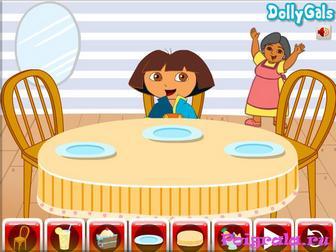 Картинка к игре Даша украшает стол