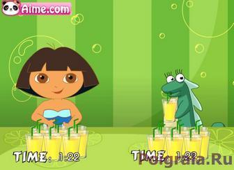 Картинка к игре Даша пьет сок