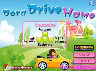 Игра Даша едет на машине