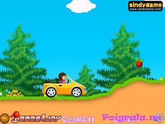 Картинка к игре Даша едет на машине