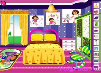 Картинка к игре Даша украшает комнату