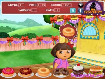 Картинка к игре Даша ест сладости