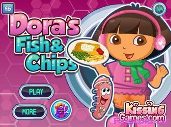 Игра Даша готовит рыбу и чипсы