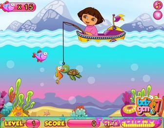 Картинка к игре Даша на рыбалке