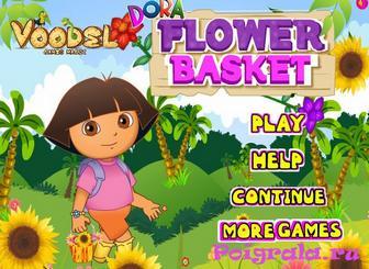 Игра Даша собирает цветки