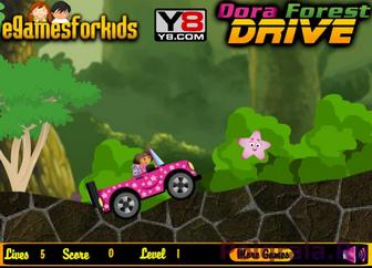 Картинка к игре Даша, лесные гонки