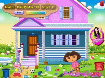 Картинка к игре Даша убирает дом