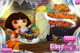 Игра Даша и торт на Хеллоуин