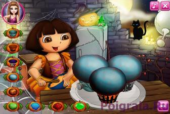 Картинка к игре Даша и торт на Хеллоуин