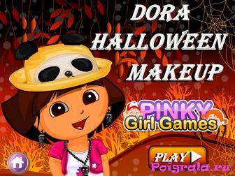 Даша макияж на Хеллоуин картинка 1