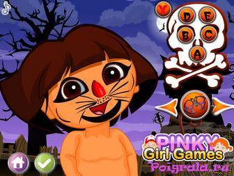 Картинка к игре Даша макияж на Хеллоуин