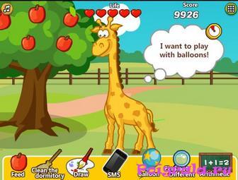 Картинка к игре Даша ухаживает за жирафом
