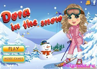 Игра Даша зимой