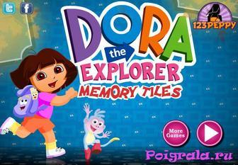 Игра Dora memory tiles