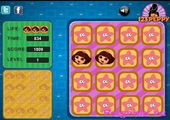 Картинка к игре Dora memory tiles