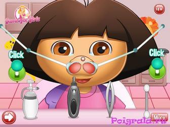 Картинка к игре Даша лечит нос
