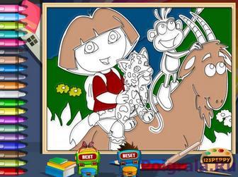 Картинка к игре Раскраска с Дашей